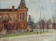 M2000.83.110 | Waterloo city hall and fire hall | Painting | Ernst Neumann, 1907-1956 |  |