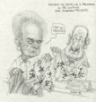 M2000.93.121 | Meanwhile, in Belgrade, Life Goes on for Slobodan Milosevic | Drawing | Serge Chapleau |  |