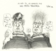 M2000.93.140 | Don't Miss the Three Tenors, Tonight at 7:00 | Drawing | Serge Chapleau |  |