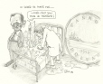 M2000.93.203 | The Ailing Looney... | Drawing | Serge Chapleau |  |