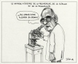 M2000.93.26.1-2   New Minister of Research, Science and Technology   Montage (computer drawing)   Serge Chapleau     
