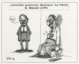 M2000.93.37.1-2   Anglophone Journalist Reacts to Bernard Landry's Comments   Montage (computer drawing)   Serge Chapleau     