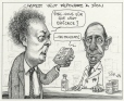 M2000.93.39.1-2   Charest Wants to Reply to Dion   Montage (computer drawing)   Serge Chapleau     