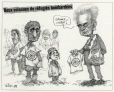 M2000.93.6.1-2   Two Refugee Columns Bombed   Montage (computer drawing)   Serge Chapleau     