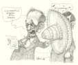 M2000.93.72 | Jean Chrétien and Lucien Bouchard During a Diplomatic Visit to Mexico | Drawing | Serge Chapleau |  |
