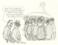 M2000.93.76 | Wow, so many people for an Expos game? -No, there are two job openings at a fast-food stand. | Drawing | Serge Chapleau |  |