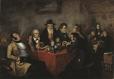 M2000.95.1 | The Shakspeare Club, Montreal, 1847 | Painting | Cornelius Krieghoff (1815-1872) |  |