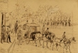 M2001.30.3 | Lord Elgin and Staff leaving Government House for Parliament, April 1849 | Drawing | Francis Augustus Grant, 1829-1854 |  |