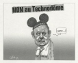 M2001.99.14.1-2 | No to the Technodome | Montage (computer drawing) | Serge Chapleau |  |