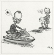 M2001.99.31.1-3 | Jean Chrétien Stops Stockwell Day | Montage (computer drawing) | Serge Chapleau |  |