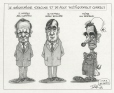 M2001.99.53.1-2 | The Cartoonist Apologies and Becomes Politically Correct | Montage (computer drawing) | Serge Chapleau |  |