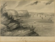 M2002.128.35 | Views down the River St. Lawrence, the Heights of Abraham & Quebec Citadel | Drawing | Frederick Holloway, active 1840-1853 |  |