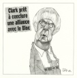 M2002.131.135.1-2 | Clark Tries on the Bloc for Size | Montage (computer drawing) | Serge Chapleau |  |