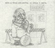 M2002.131.75 | Policies on Health Care and Right Turn on Red Cause Emergency Room Overflows | Drawing | Serge Chapleau |  |