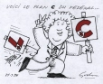 M2002.132.106 | C as in Charest, C as in Conservative, C as in Plan C | Drawing | Éric Godin |  |