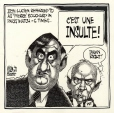M2003.109.45 | Lucien Bouchard Insulted | Drawing | Aislin (alias Terry Mosher) |  |