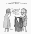 M2003.143.123 | Hells trial: Judge Béliveau replaces Judge Boilard | Drawing | Serge Chapleau |  |