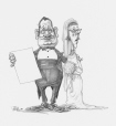 M2003.143.178 | Handsome couple | Drawing | Serge Chapleau |  |