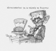 M2003.143.191 | Demonstration of Rushton's theory | Drawing | Serge Chapleau |  |
