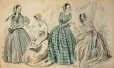 M2003X.6.3.296 | Four Ladies with Fashionable Dresses ( from Godey's Lady's Book) | Print |  |  |