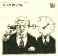 M2005.100.48 | Yeltsin Roulette | Drawing | Aislin (alias Terry Mosher) |  |