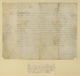 M2005.25.1 | Deed confirming the grant of the Rouville seigneury by Louis XIV to Jean-Baptiste Hertel de Rouville | Manuscript |  |  |