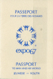 M2005.95.3 | Expo 67 passport, Alfred Jeffrey Strauss | Passport |  |  |