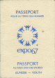 M2005.95.4 | Passport for Man and His World, Expo 67, belonging to Marina Strauss | Passport |  |  | 