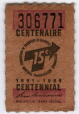 M2006.127.6.3 | 15 cent ticket issued by the Montreal Transportation Commission | Ticket | Montreal Transportation Commission |  | 