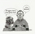 M2007.143.39 | Montreal Canadiens return to the playoffs | Drawing | Aislin (alias Terry Mosher) |  |