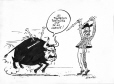 M2007.69.1 | George Bush and Saddam Hussein as toreador and bull | Drawing | Garnotte (alias Michel Garneau) |  |