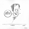 M2007.69.218 | Somebody hold back Charest! | Drawing | Garnotte (alias Michel Garneau) |  |