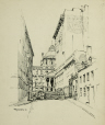 M2010.62.9 | Court House, Montreal | Drawing | Harry Mayerovitch |  |
