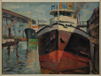 M2010.74.4 | Boats at Harbour, Montreal | Painting | Jack Beder |  |