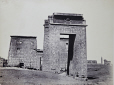 M2010.89.1.28 | Gateway of Ptolemy III, south entrance to Temple of Khonsu, Karnak, Egypt, about 1865 | Photograph | Wilhelm Hammerschmidt |  |