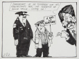 M2011.105.246 | Jean Doré will only allow demonstrators who have a guarantee of good behaviour | Drawing | Roland Pier |  |