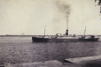 M2011.64.2.1.156 | Steamship seen from dock, Trois-Rivières (?), QC, about 1916 | Photograph | Harry Sutcliffe |  |