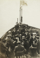 M2011.64.2.2.73.1 | Men smoking, seated on chairs on deck of boat, about 1914 | Photograph | Harry Sutcliffe |  |