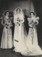 M2011.64.2.6.225 | Jean in wedding dress with bridesmaids Mary and Bessie, Australia (?), 1937 | Photograph |  |  |