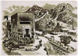 M2012.123.388 | Great Wall of China | Drawing | Duncan Macpherson (1924-1993) |  |