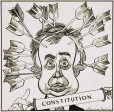 M2012.123.585 | Joe Clark and the Canadian constitution | Drawing | Duncan Macpherson (1924-1993) |  |