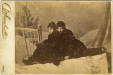 M2012.69.2.7 | Honoré Beaugrand and his wife on a sled, winter décor, Montreal, QC, about 1880 | Photograph | L. G. H. Archambault |  |