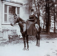 M2013.59.1.100 | Evelyn St Clair on horseback, QC, 1903 | Photograph | Gwendolyn Stanley Bagg |  |