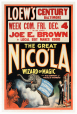 M2014.128.382 | The Great Nicola, Wizard of Magic, and His Company of Miracle Workers | Poster | Berkshire Poster Co. |  |