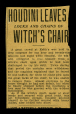 M2014.128.702.77 | Houdini leaves locks and chains of witch's chair | Clipping |  |  |