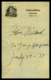 M2014.128.702.93 | Autograph of John [M]illard to [Georg] Narkuss | Document |  |  |