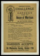 "M2014.128.706.11 | Handbill announcing a ""Sensational Challenge to Hardeen from the House of Morrison"" at the American Music Hall 