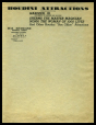 M2014.128.706.34 | Houdini Attractions' headed notepaper | Letterhead |  |  |