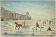 M330 | Skating on the harbour ice, Montreal, QC, 1850-60 | Painting | John Henry Walker (1831-1899) |  |
