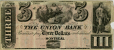 M5665 | Three-dollar bill issued by the Union Bank | Currency |  |  |
